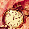 Abstract background with a pocket watch — Stock Photo