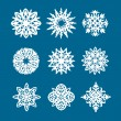 Snowflake logo elements — Stock Vector
