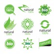 Stock Vector: Eco, natural and organic symbols or logos