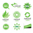 Eco, natural and organic symbols or logos — Stok Vektör #22108291