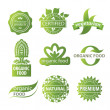 Eco, natural and organic symbols or logos — Image vectorielle