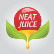 Logo juice  — Stock Vector
