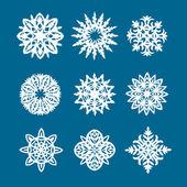 Elementos del logotipo de copo de nieve — Vector de stock