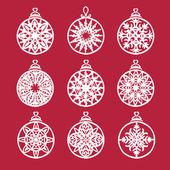 Snowflake logo elements — Stock Vector