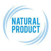 Label and logo for natural products — Stock Vector