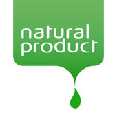 Label and logo for natural products — Stock vektor