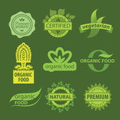 Eco, natural and organic symbols or logos — Vecteur