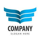 Company logo in blue — Stock Vector
