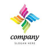 Colour logo — Stock Vector