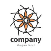 Abstract Flower Background. Logo design — Stock Vector