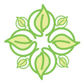 Eco icon. leaves logo — Vector de stock