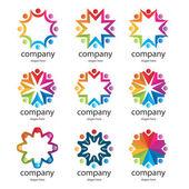 Abstraktní logo šablony sady. ikony pro jakýkoli druh podnikání. — Stock vektor