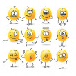 Stock Vector: Funny images stillizovannye emotions