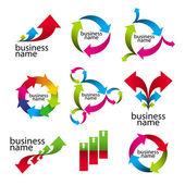 Colección de logotipos vectoriales, las flechas y diagramas — Vector de stock