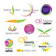 Stock Vector: Collection of vector logos beauty salons