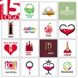 Royalty-Free Stock Vector Image: Collection of vector logos of restaurants and cafes