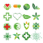 Collection of vector logos of Medicine and Pharmacy — Stock Vector