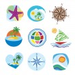 Collection of icons for the travel and tourism — Stock Vector