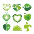 Collection of vector logos health and the environment in the for — Stock Vector