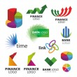 Stock Vector: Collection of vector icons for banks and financial companies