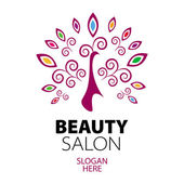 Peacock logo for beauty salon — Stock Vector