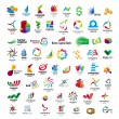 Vector de stock : Collection of vector icons for banks and financial companies