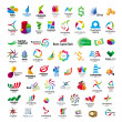 图库矢量图片: Collection of vector icons for banks and financial companies
