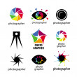 Collection of vector logos for photographers and photo — Stock Vector #26890121