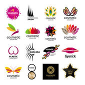Collection of vector logos for cosmetics and body care — Stock Vector