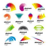 Vector collection of abstract logos range — Stock Vector