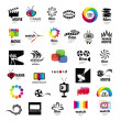 Vetorial Stock : Collection of logos tv, video, photo, film