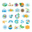 Stock Vector: Collection of icons for travel and tourism
