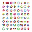 Stock Vector: Collection of abstract symbols