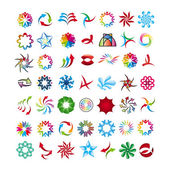 Collection of abstract icons — Stock Vector
