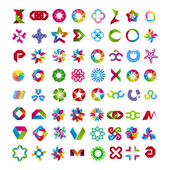 Collection of abstract symbols — Stock Vector