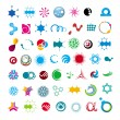 Collection of abstract universal character — Векторная иллюстрация