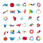 Collection of abstract universal character — Stock Vector