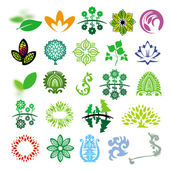 Collection of vector signs ecology of nature — Stock Vector