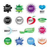 Collection of vector icons for packages of best quality — Stock Vector