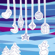 Vector collection of Christmas tree decorations — Stockvektor