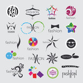 Collection of vector logos for clothing and fashion accessories — Stock Vector