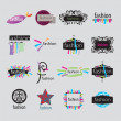 Stock Vector: Collection of vector logos fashion accessories