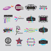 Collection of vector logos fashion accessories — Stock Vector