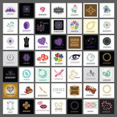 Collection of vector logos jewelry, gold jewelry — Stock Vector