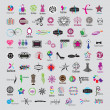 Biggest collection of vector logos of fashion accessories and cl — Stock Vector