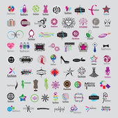 Biggest collection of vector logos of fashion accessories and cl — Stockvektor