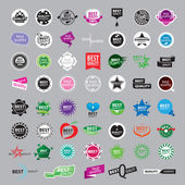 Biggest collection of vector logos of the highest quality — Stock Vector