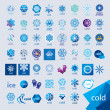 Biggest collection of vector logos cold and frost — Stock Vector