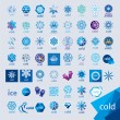 Stock Vector: Biggest collection of vector logos cold and frost