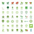 Biggest collection of vector logos eco and nature — Stock Vector